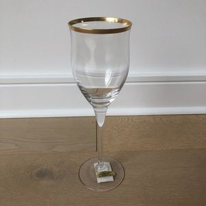 Noritake crystal wine glasses